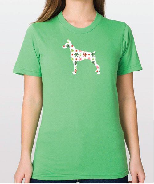 Righteous Hound - Unisex Holiday Doberman T-Shirt