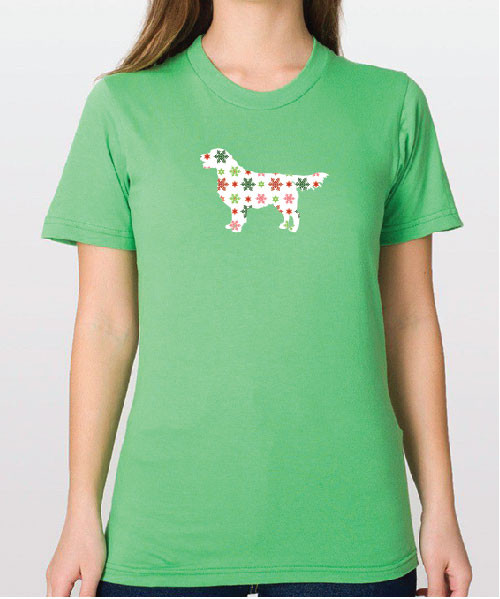 Righteous Hound - Unisex Holiday Golden Retriever T-Shirt
