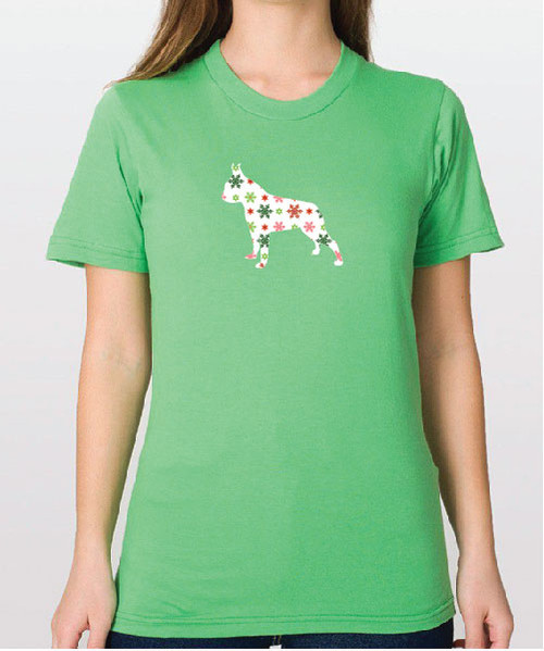 Righteous Hound - Unisex Holiday Boston Terrier T-Shirt