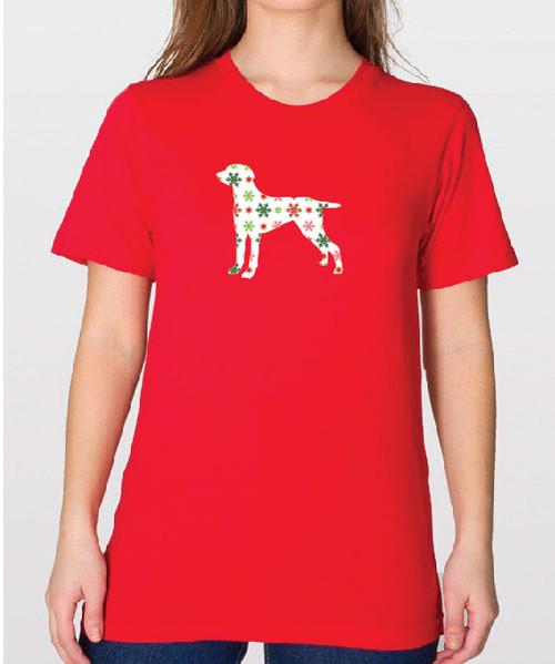 Unisex Holiday Weimaraner T-Shirt