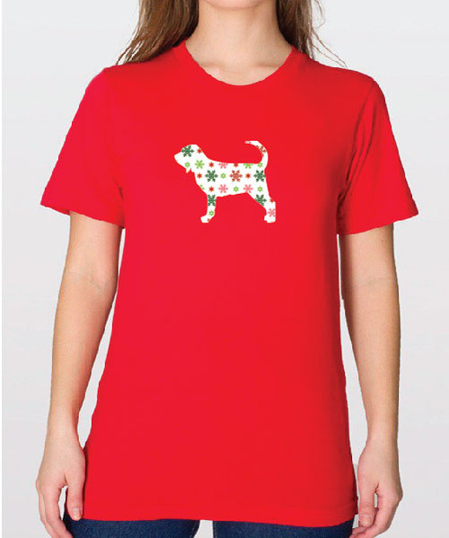 Unisex Holiday Bloodhound T-Shirt