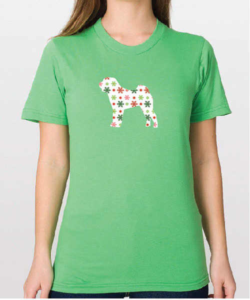 Righteous Hound - Unisex Holiday Shar-Pei T-Shirt