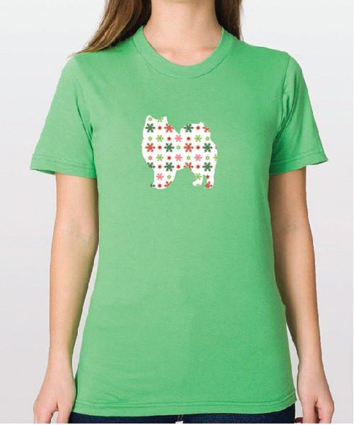 Righteous Hound - Unisex Holiday American Eskimo Dog T-Shirt