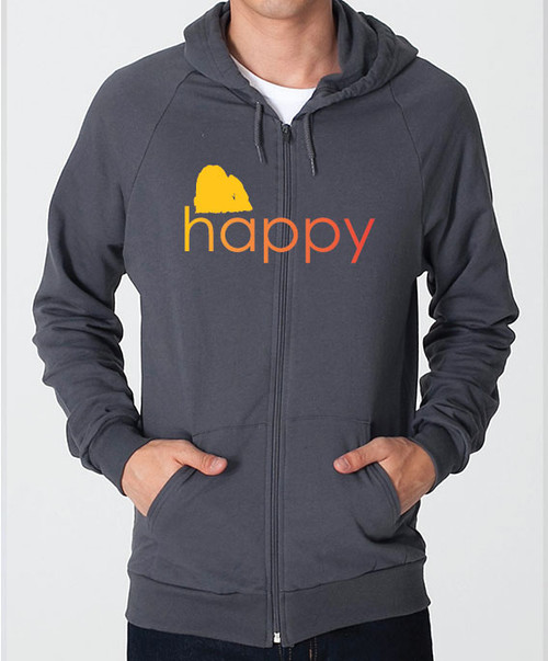Righteous Hound - Unisex Happy Maltese Zip Front Hoodie