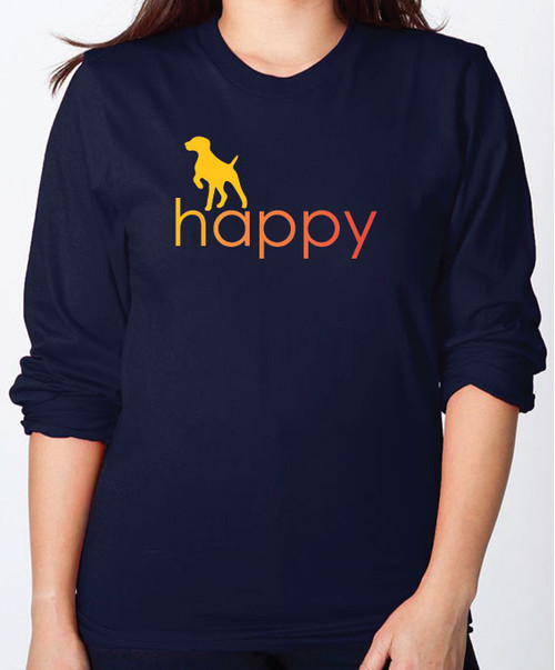 Righteous Hound - Unisex Happy German Shorthaired Pointer Long Sleeve T-Shirt