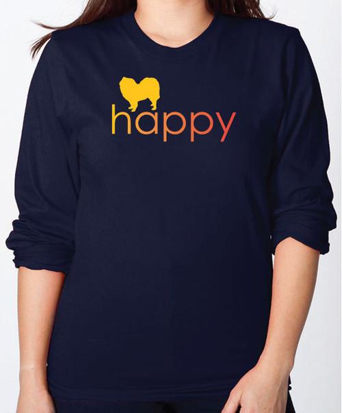 Righteous Hound - Unisex Happy Samoyed Long Sleeve T-Shirt
