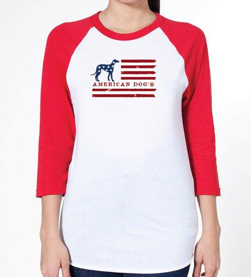 Unisex Flag Greyhound Raglan T-Shirt