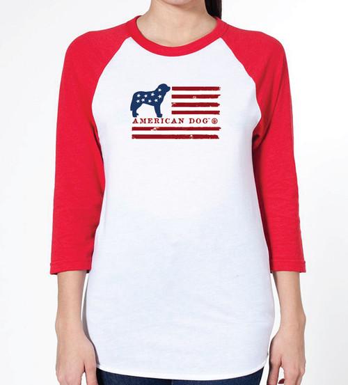 Unisex Flag Saint Bernard Raglan T-Shirt