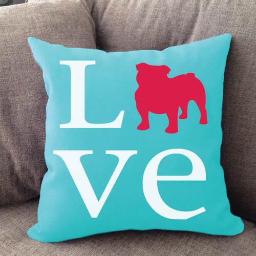 Bulldog Love Pillow