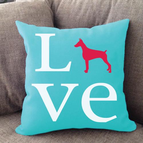 Doberman Pinscher Love Pillow