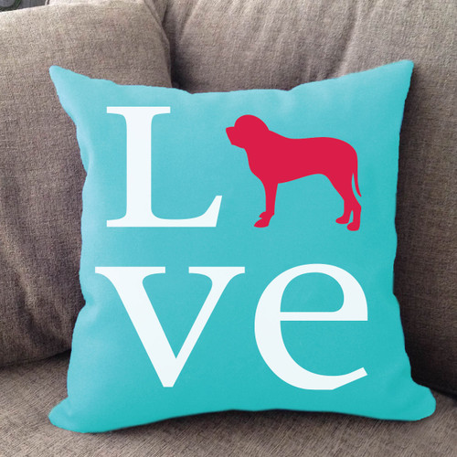 Mastiff Love Pillow
