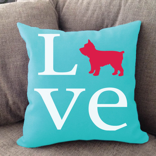 Yorkie Love Pillow