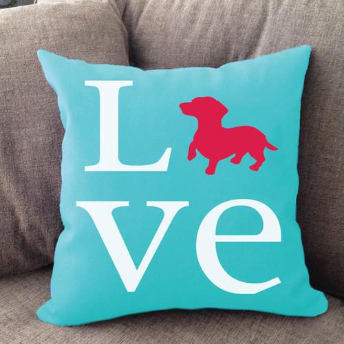 Dachshund Love Pillow