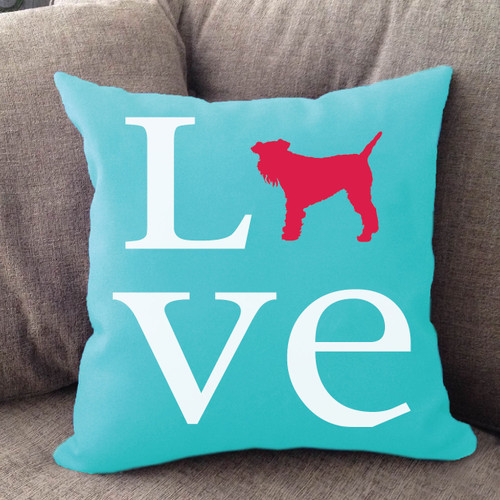 Schnauzer Love Pillow