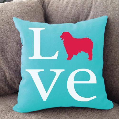 Australian Shepherd Love Pillow