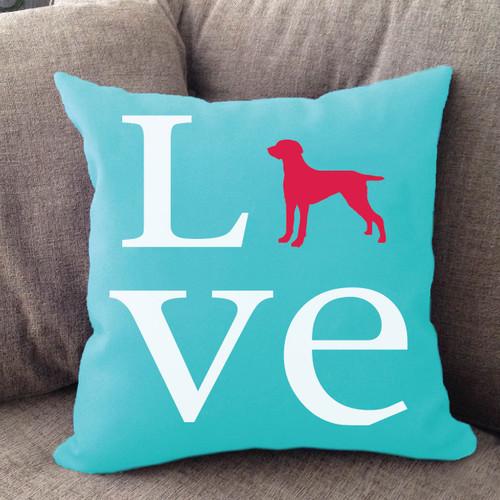 Weimaraner Love Pillow