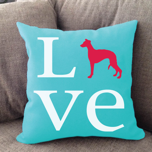 Whippet Love Pillow