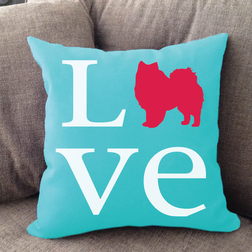 American Eskimo Dog Love Pillow