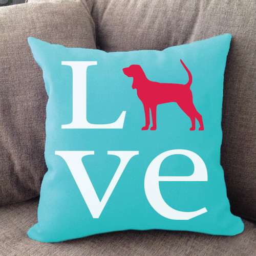 Coonhound Love Pillow
