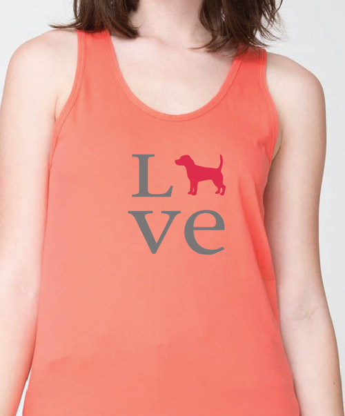 Unisex Love Beagle Tank Top