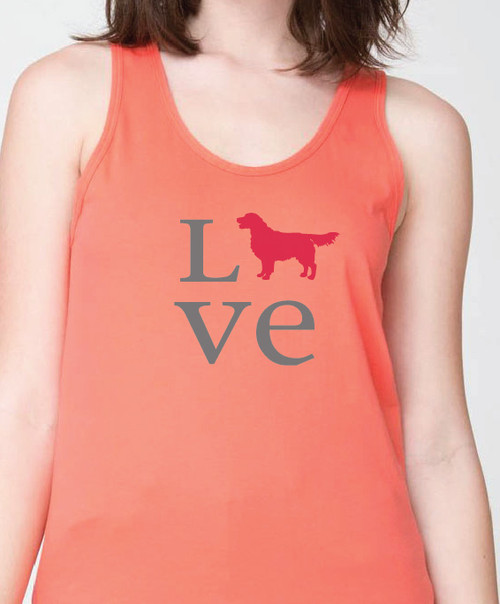 Unisex Love Golden Retriever Tank Top