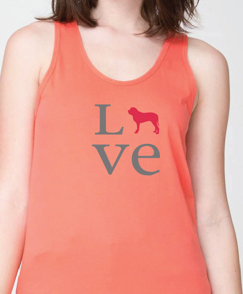Unisex Love Mastiff Tank Top