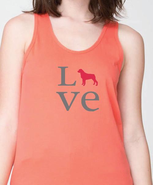 Unisex Love Rottweiler Tank Top