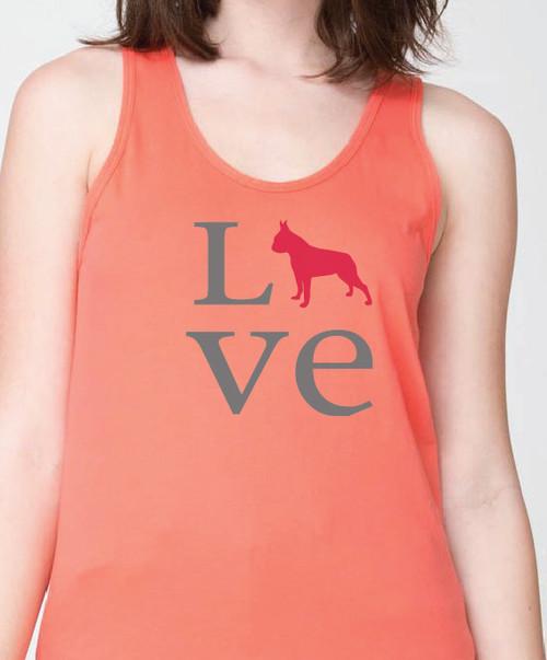 Unisex Love Boston Terrier Tank Top