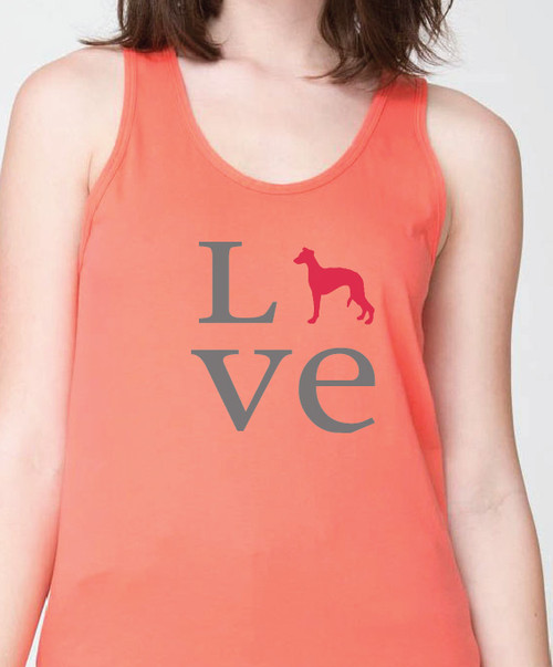 Unisex Love Whippet Tank Top