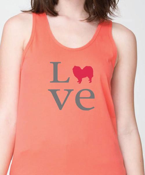 Unisex Love Samoyed Tank Top