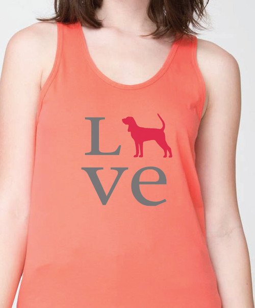 Unisex Love Coonhound Tank Top