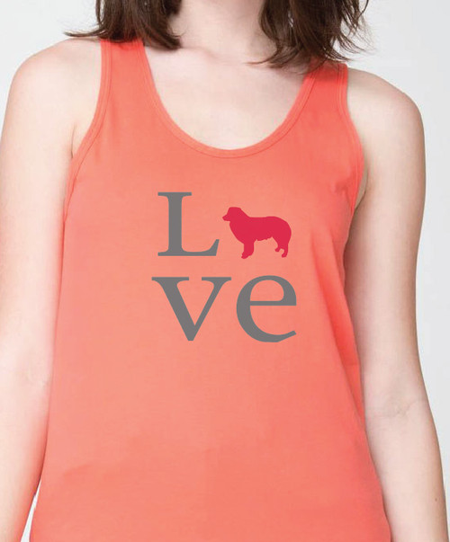Unisex Love Border Collie Tank Top