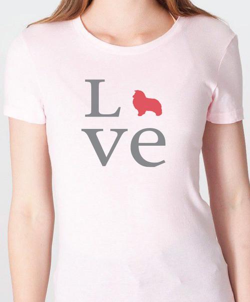 Unisex Love Shetland Sheepdog T-Shirt