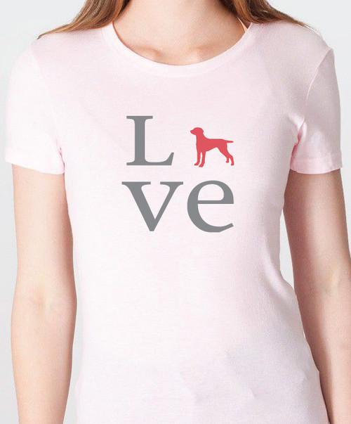 Unisex Love Weimaraner T-Shirt