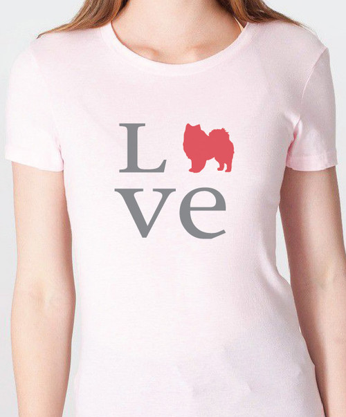 Unisex Love American Eskimo Dog T-Shirt