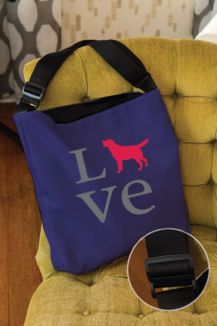 Righteous Hound - Love Lab Adjustable Tote Bag