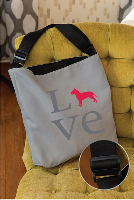 Love Pitbull Adjustable Tote Bag