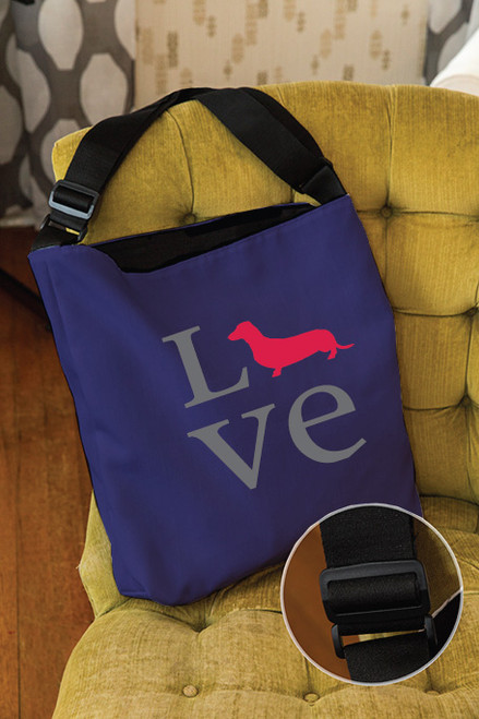 Righteous Hound - Love Dachshund Adjustable Tote Bag