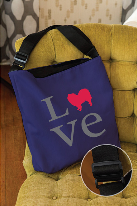 Righteous Hound - Love Samoyed Adjustable Tote Bag
