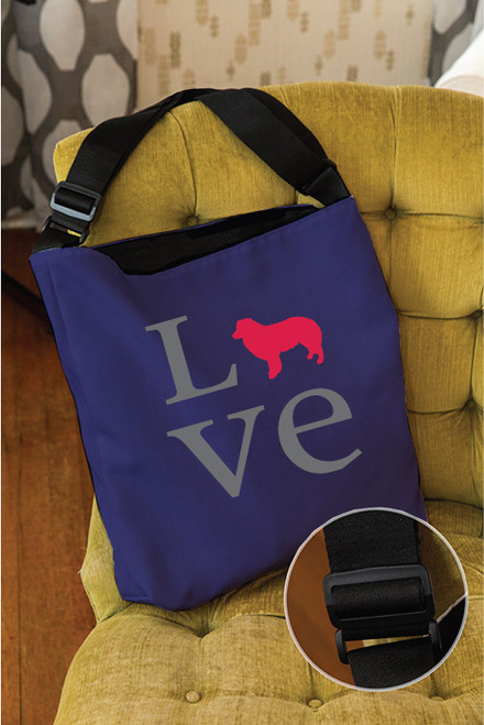Righteous Hound - Love Border Collie Adjustable Tote Bag