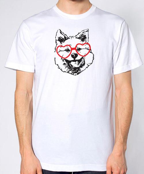 Hipster Akita Unisex T-Shirt