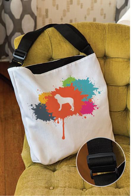 Splatter Mastiff Adjustable Tote Bag