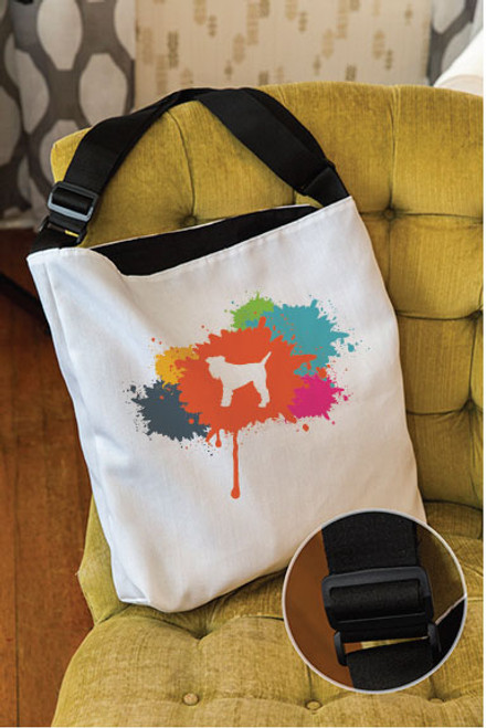 Splatter Schnauzer Adjustable Tote Bag