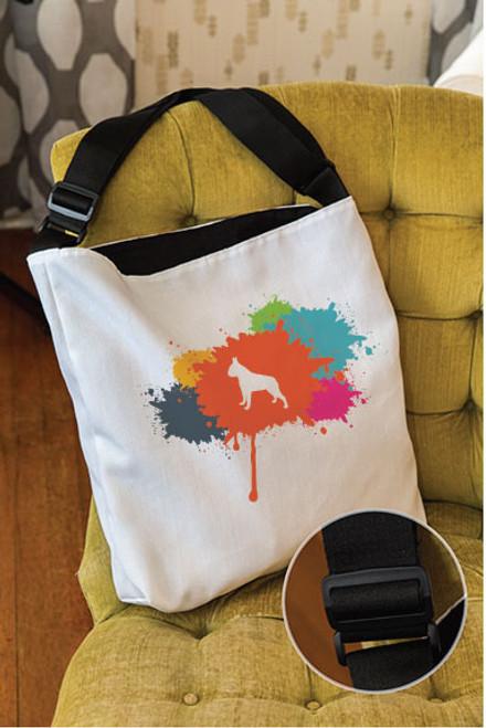 Splatter Boston Terrier Adjustable Tote Bag