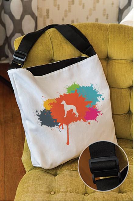 Splatter Whippet Adjustable Tote Bag