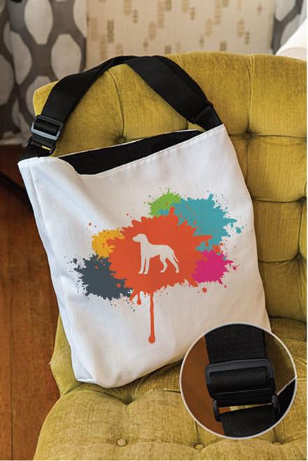 Splatter Dalmatian Adjustable Tote Bag