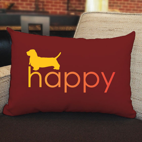 Righteous Hound - Happy Basset Hound Pillow