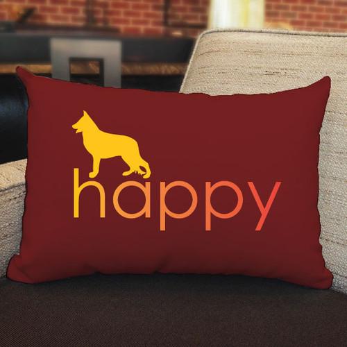 Righteous Hound - Happy German Shepherd Pillow