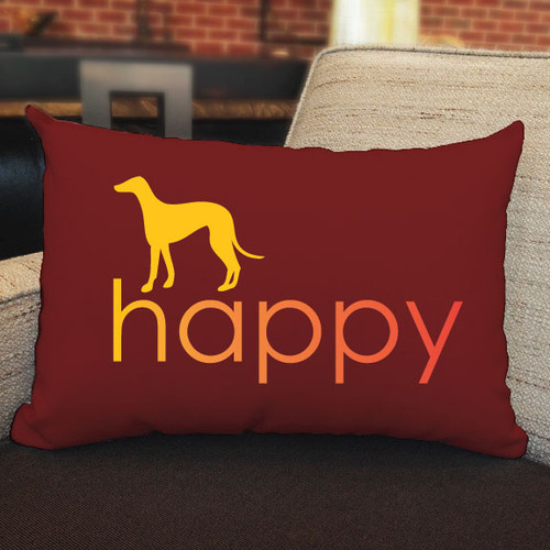 Righteous Hound - Happy Greyhound Pillow