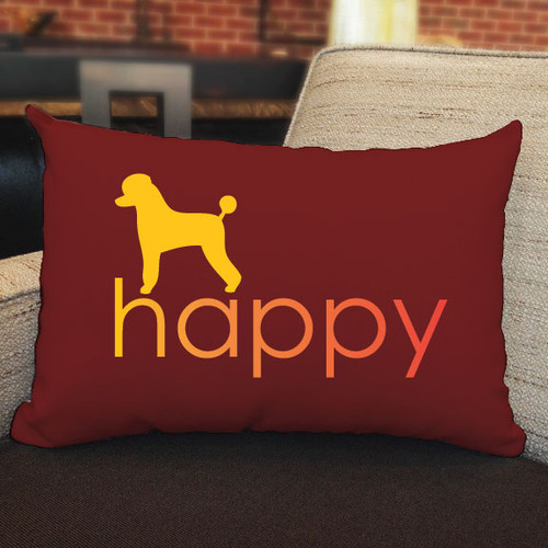 Righteous Hound - Happy Poodle Pillow